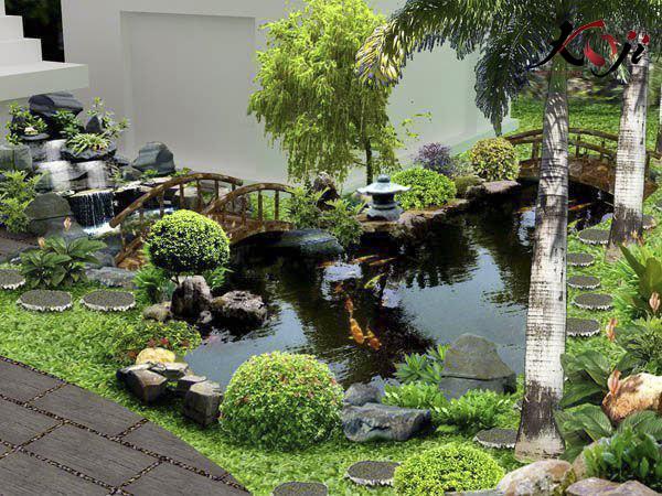 hướng nước chảy phải phù hợp với không gian sân vườn