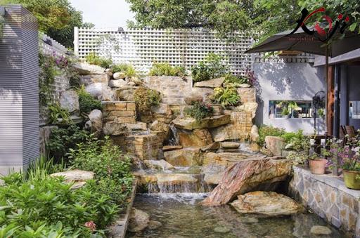 Mẫu đá sử dụng để trang trí thác nước hồ cá koi