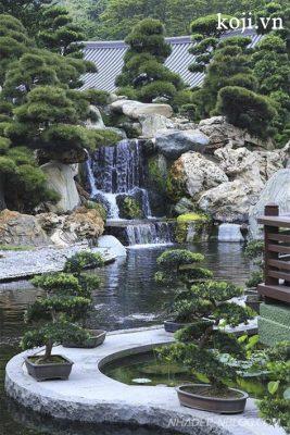 thiết kế thi công thác nước hồ cá koi