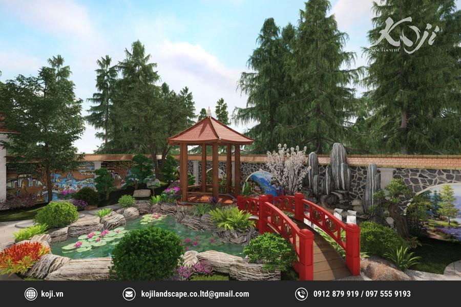 thiết kế 3d Sân vườn nhà thờ