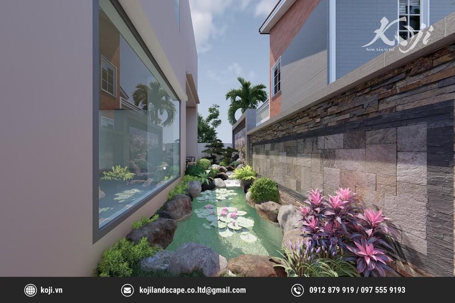 thiết kế 3d Biệt thự sân vườn
