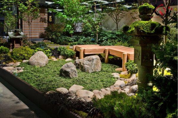 Thi công sân vườn kiểu Nhật sau khi hoàn thành