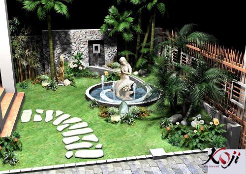 Chi phí cảnh quan sân vườn dựa trên phối cảnh 3D