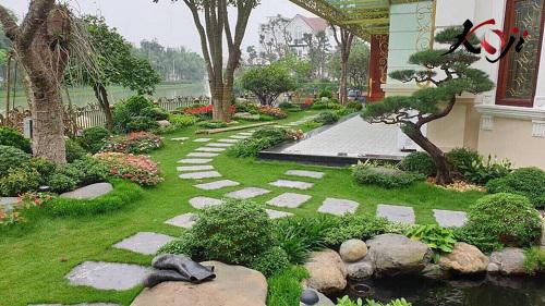 Cảnh quan sân vườn đem lại vẻ đẹp cho tổng thể ngôi nhà