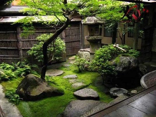Thi công sân vườn kiểu Nhật trước nhà