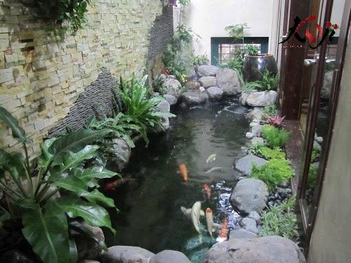 Các kiểu hồ cá koi đẹp cạnh hông nhà