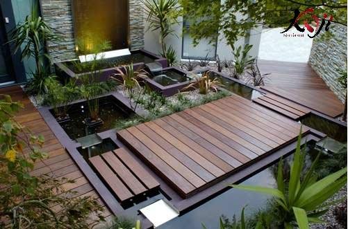 Thiết kế sân vườn kết hợp hồ cá koi