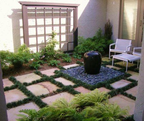 Một góc sân vườn nhỏ phong cách Nhật Bản