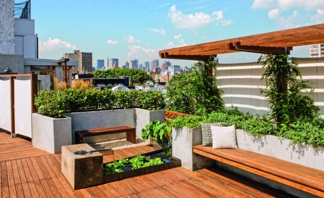 Thiết kế sân vườn Nhật trên sân thượng