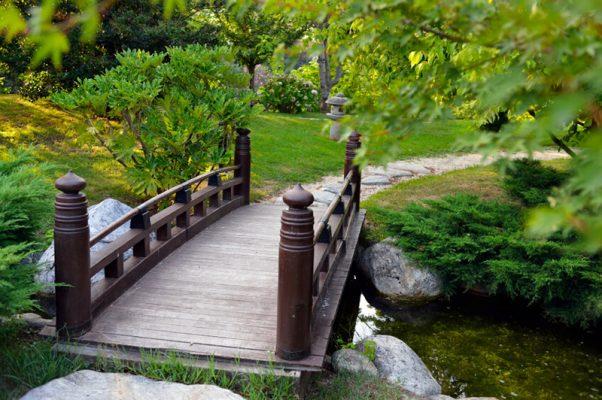 Thiết kế cầu gỗ với màu sắc trầm ấm