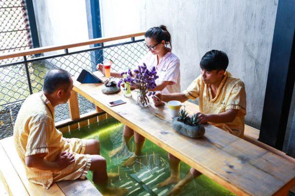Thư giãn spa ngay tại quán cafe