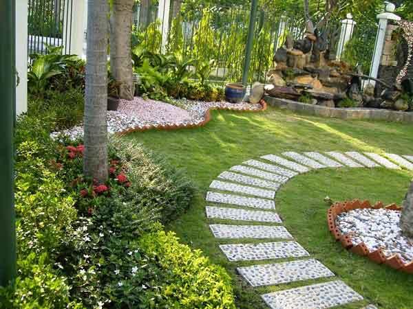 Mẫu sân vườn châu Âu hiện đại, tinh tế