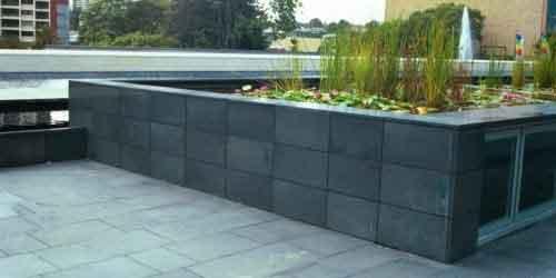 Công trình sử dụng đá đen sân vườn