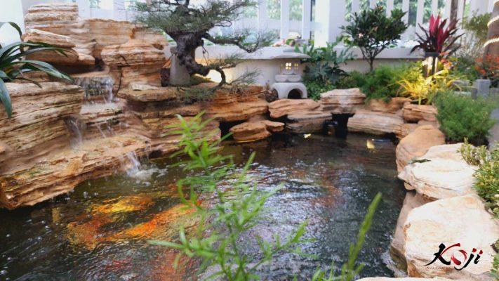 Hồ  koi cho sân vườn Nhật
