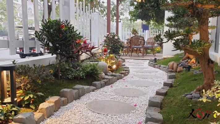 Mẫu sân vườn theo phong cách Nhật Bản