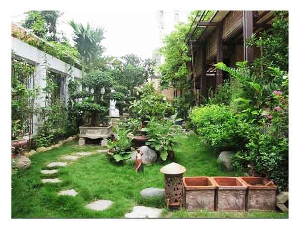 Phong cách sân vườn Việt Nam hòa mình vào thiên nhiên
