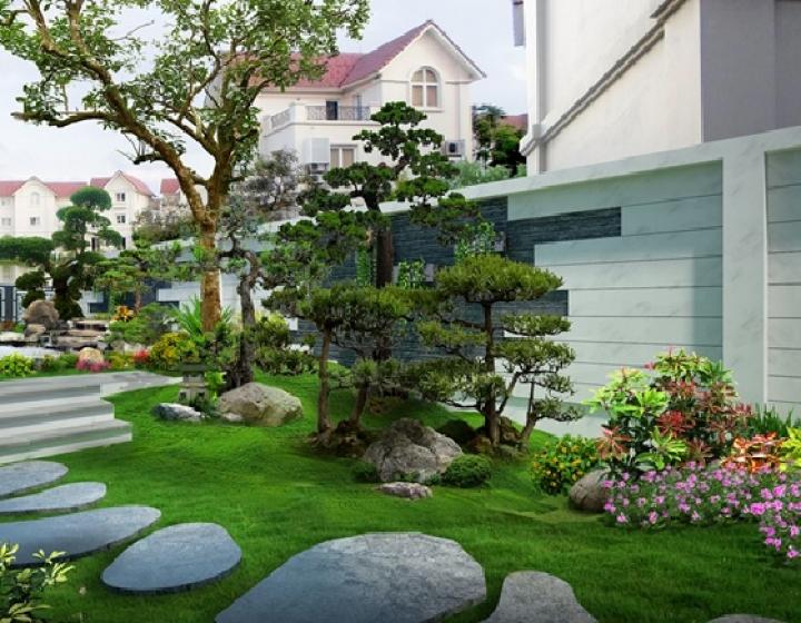 Tiểu cảnh sân vườn giúp không gian sống của bạn chan hòa cùng thiên nhiên