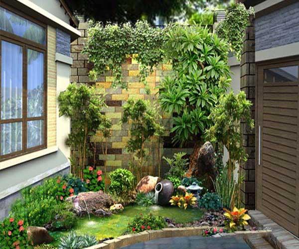 Mẫu sân vườn đơn giản trong nhà