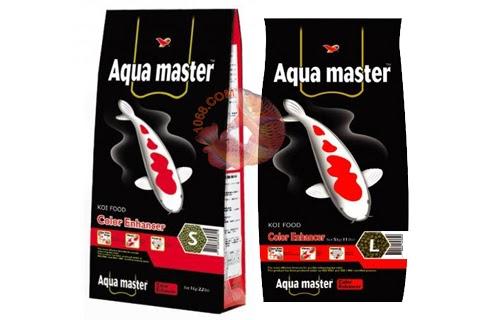 Thức ăn đóng gói cho cá koi lên màu Aquamaster dạng viên