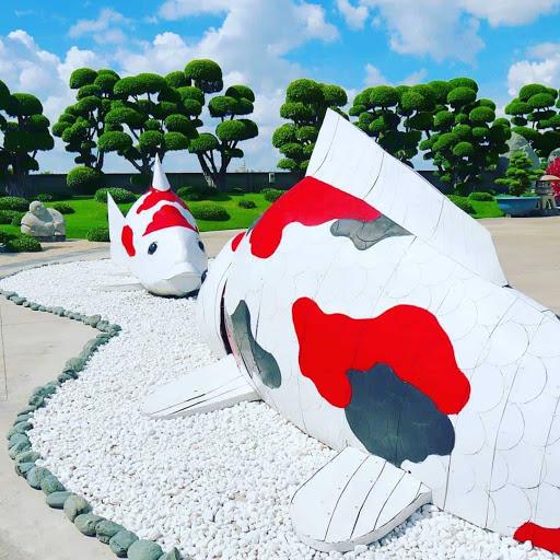 Quang cảnh được thiết kế theo phong cảnh Bonsai Nhật Bản