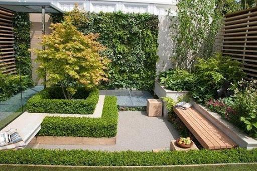 Thiết kế mẫu sân vườn biệt thự với nhiều cây xanh