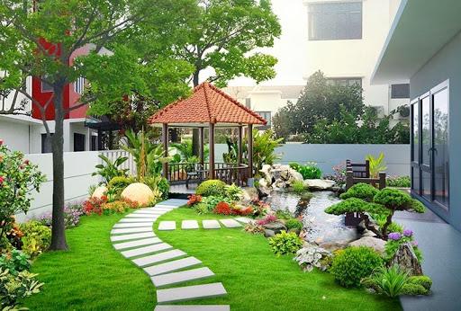 Những căn biệt thự có sân vườn đẹp luôn được đánh giá cao